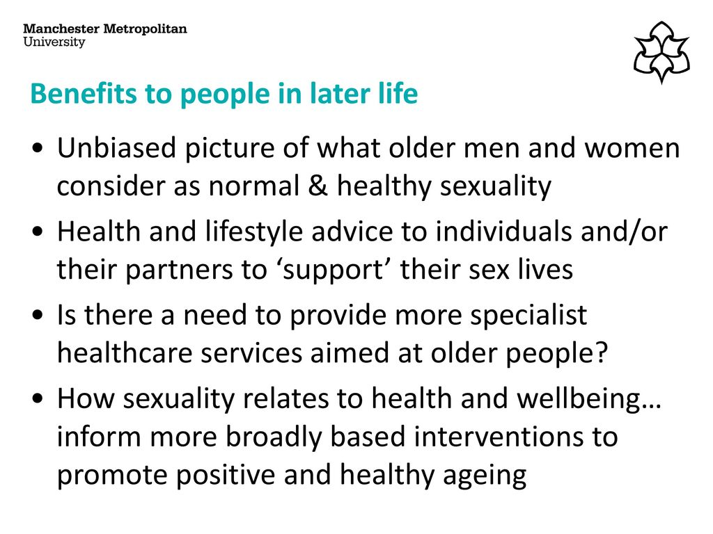 Sexuality health care and the older person